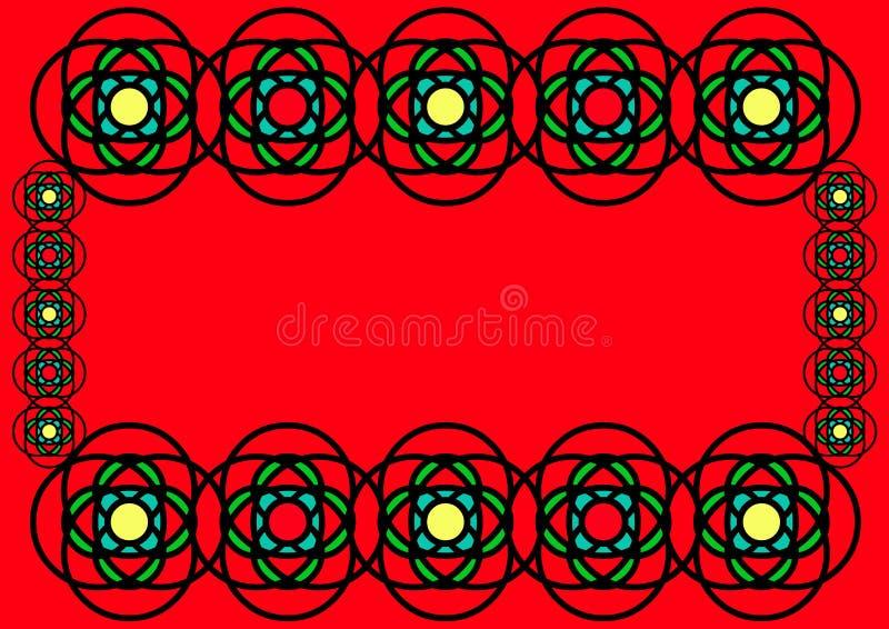 Bordo del blocco per grafici di vetro macchiato illustrazione vettoriale