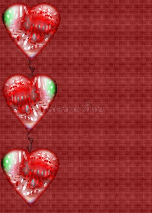 Bordo del cuore su documento royalty illustrazione gratis