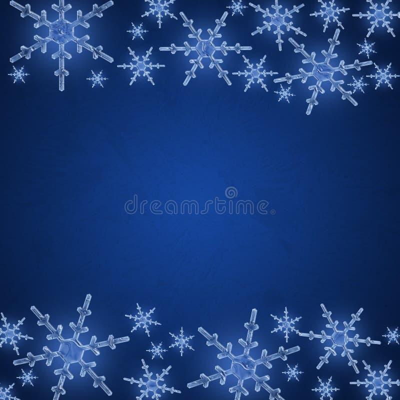 Bordo del fiocco di neve illustrazione vettoriale