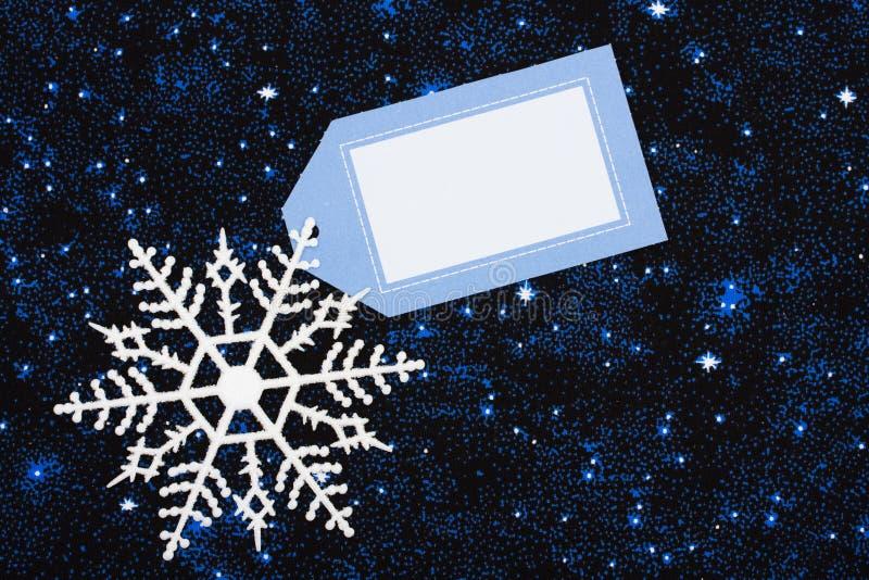 Bordo del fiocco di neve fotografia stock
