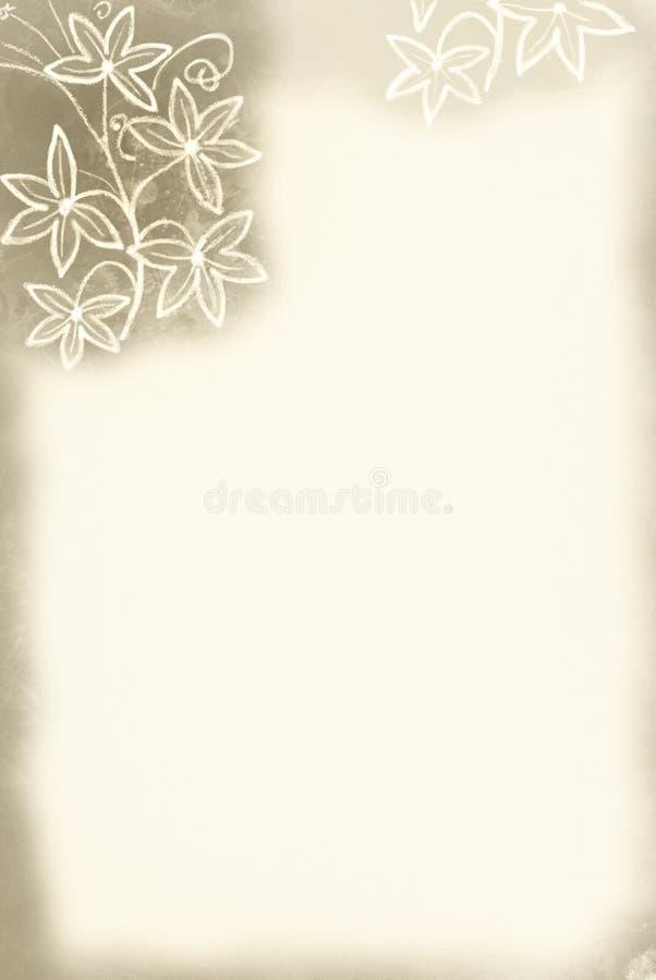Bordo del fiore/tinta di seppia illustrazione vettoriale