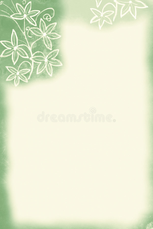 Bordo del fiore/tinta verde illustrazione vettoriale
