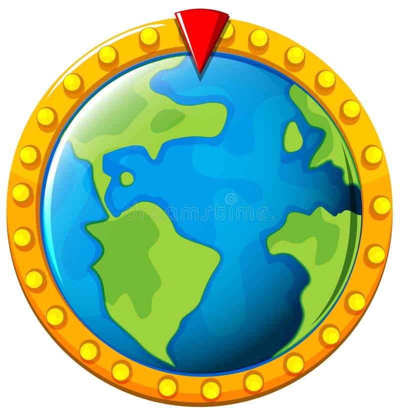 Bordo del gioco con terra nel mezzo royalty illustrazione gratis