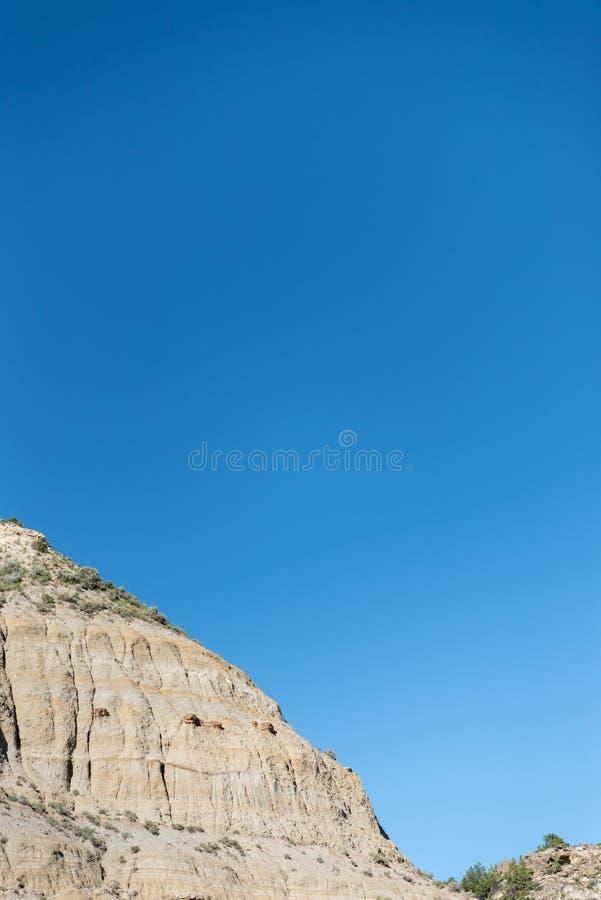 Bordo del menagramo e del cielo blu fotografia stock