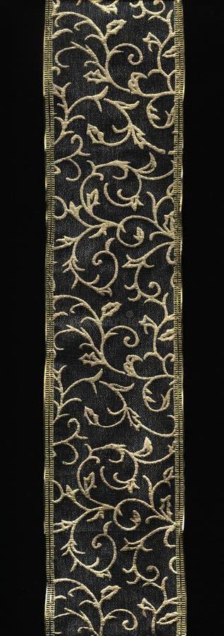 Bordo del merletto dell'oro fotografie stock libere da diritti