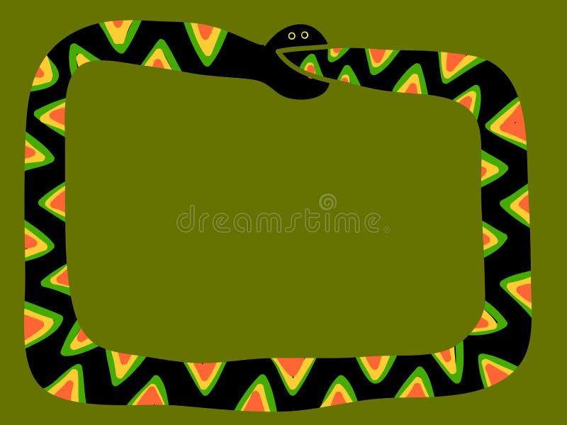 Bordo del serpente che morde la sua propria coda illustrazione di stock