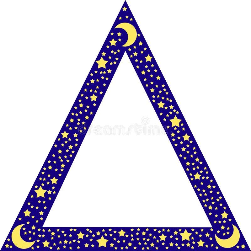 Bordo del triangolo con le stelle royalty illustrazione gratis