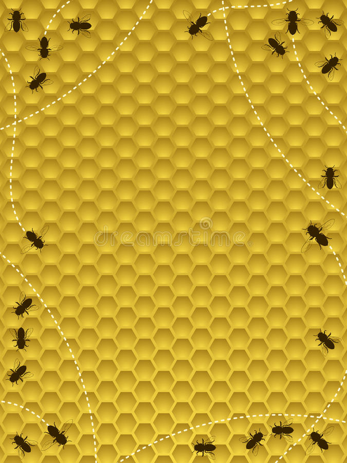 Bordo dell'alveare dell'ape illustrazione vettoriale