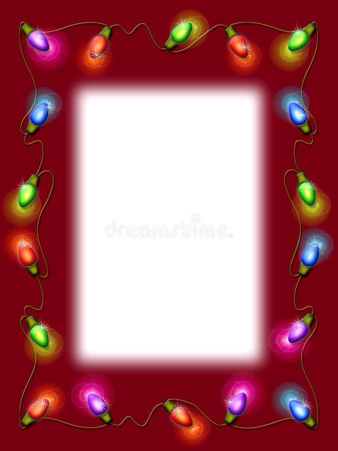 Bordo dell'indicatore luminoso di natale illustrazione vettoriale