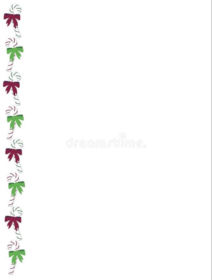 Bordo della canna di caramella illustrazione vettoriale