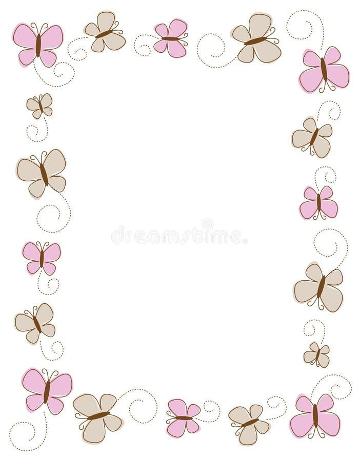 Bordo della farfalla illustrazione vettoriale
