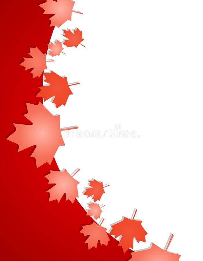 Bordo della foglia di acero di giorno del Canada illustrazione vettoriale