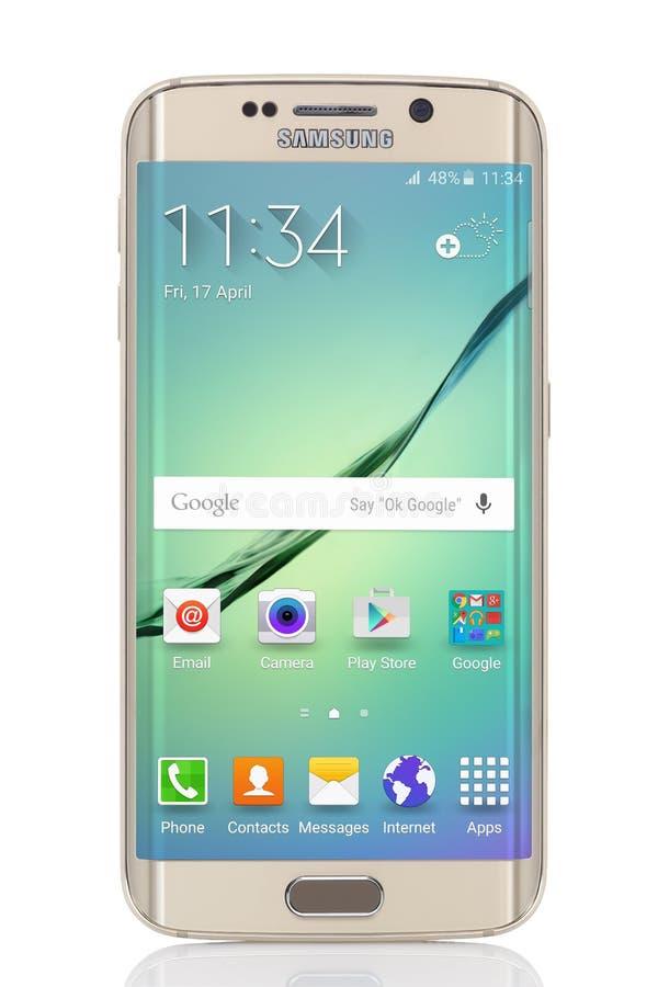 Bordo della galassia S6 di Samsung immagini stock libere da diritti