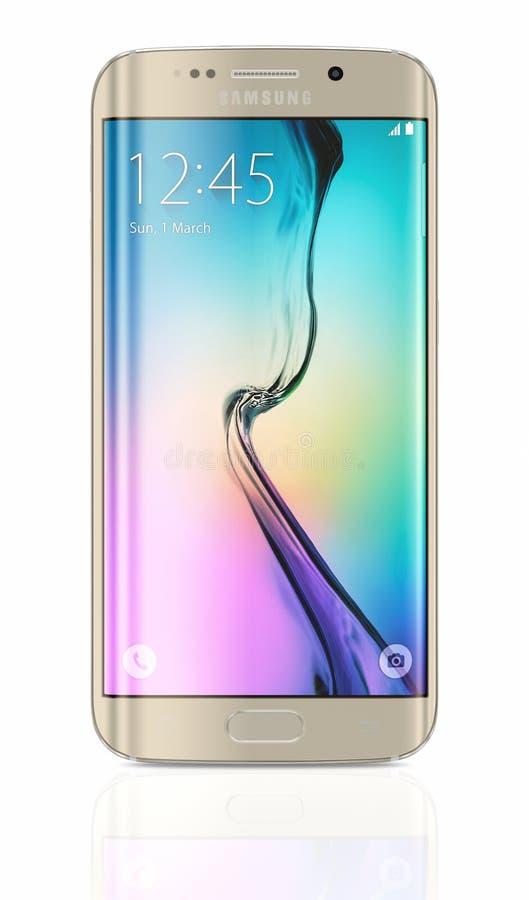 Bordo della galassia S6 di Samsung del platino dell'oro royalty illustrazione gratis