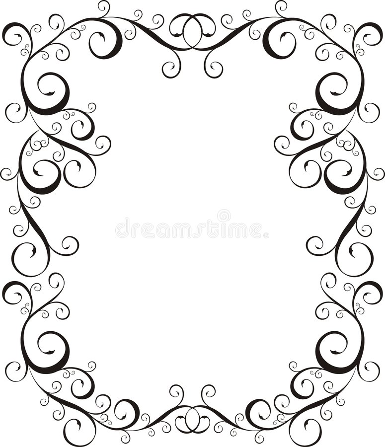 Bordo della lettera della pagina royalty illustrazione gratis