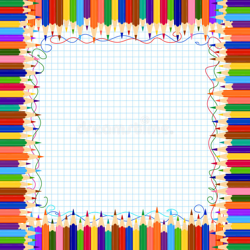 Bordo della matita illustrazione di stock
