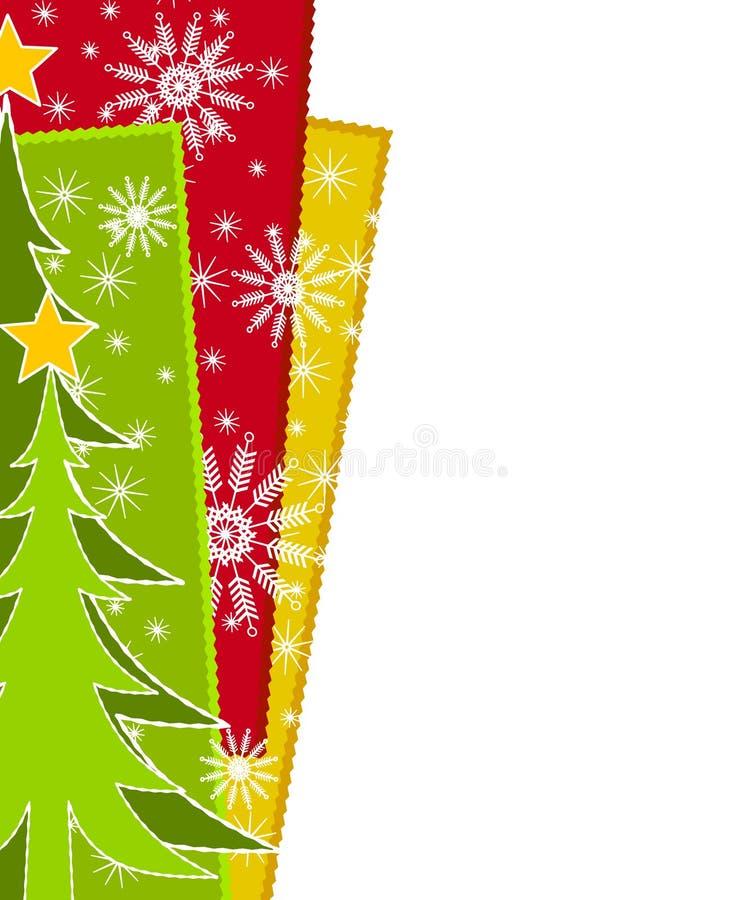 Bordo della neve dell'albero di Natale illustrazione vettoriale
