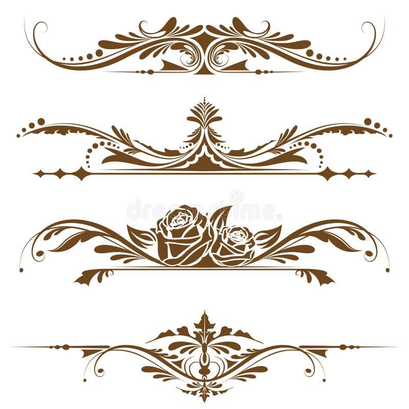 Bordo della pagina dell'annata royalty illustrazione gratis