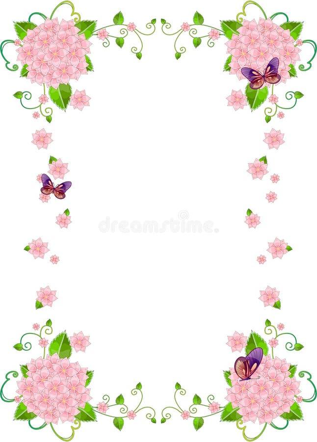 Bordo della priorità bassa del blocco per grafici del fiore royalty illustrazione gratis