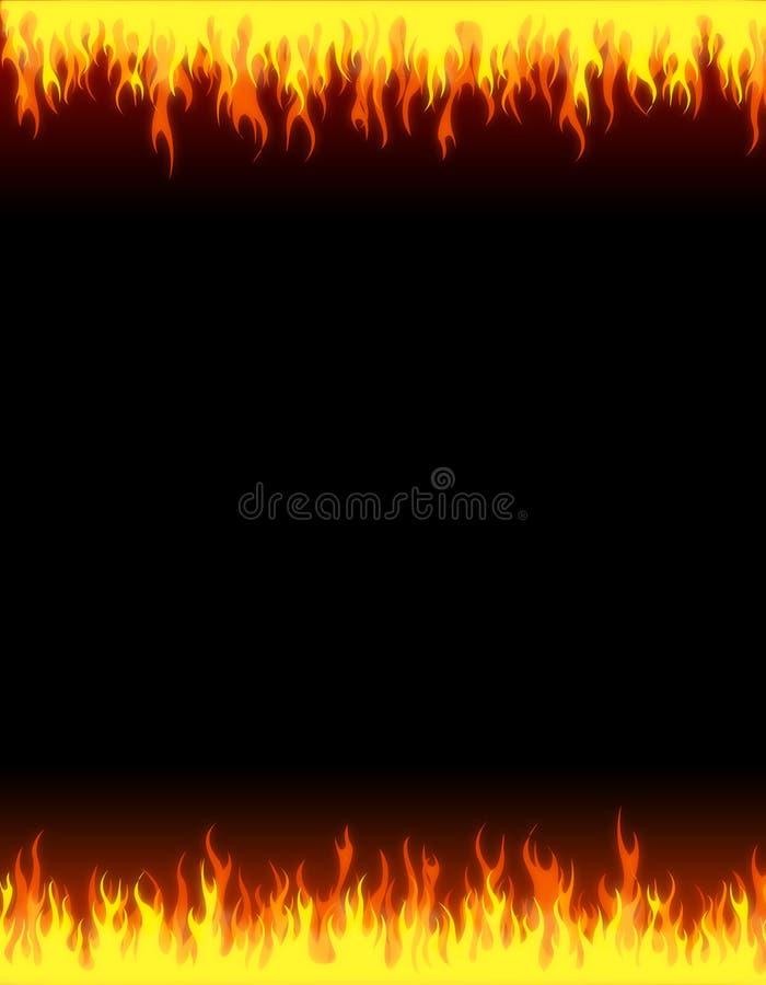 Bordo della priorità bassa di Web del fuoco royalty illustrazione gratis