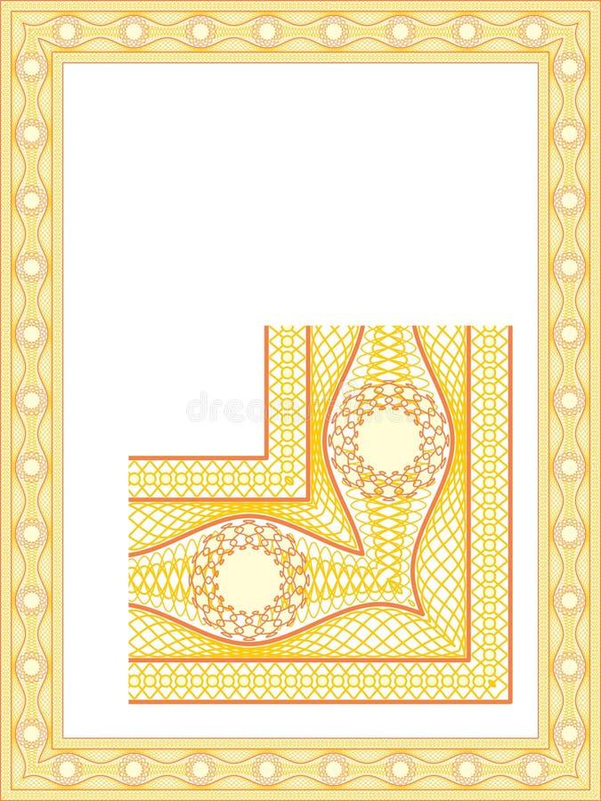 Bordo della rabescatura per il diploma illustrazione vettoriale