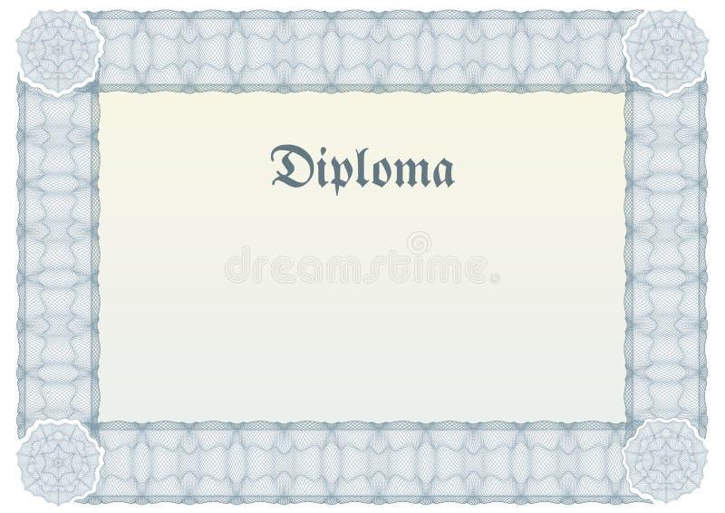 Bordo della rabescatura per il diploma o il certificato royalty illustrazione gratis