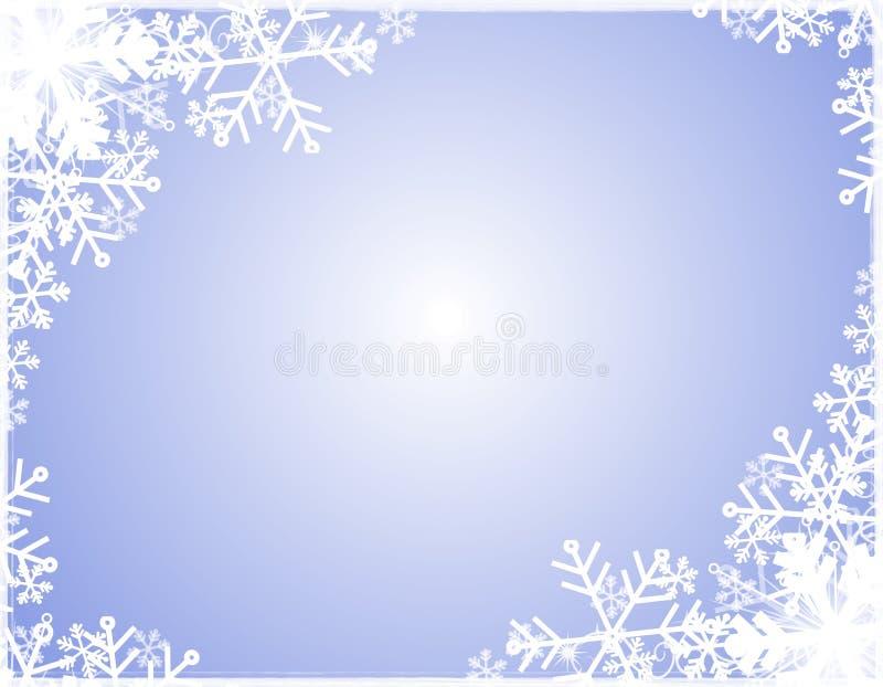 Bordo della siluetta del fiocco di neve illustrazione di stock