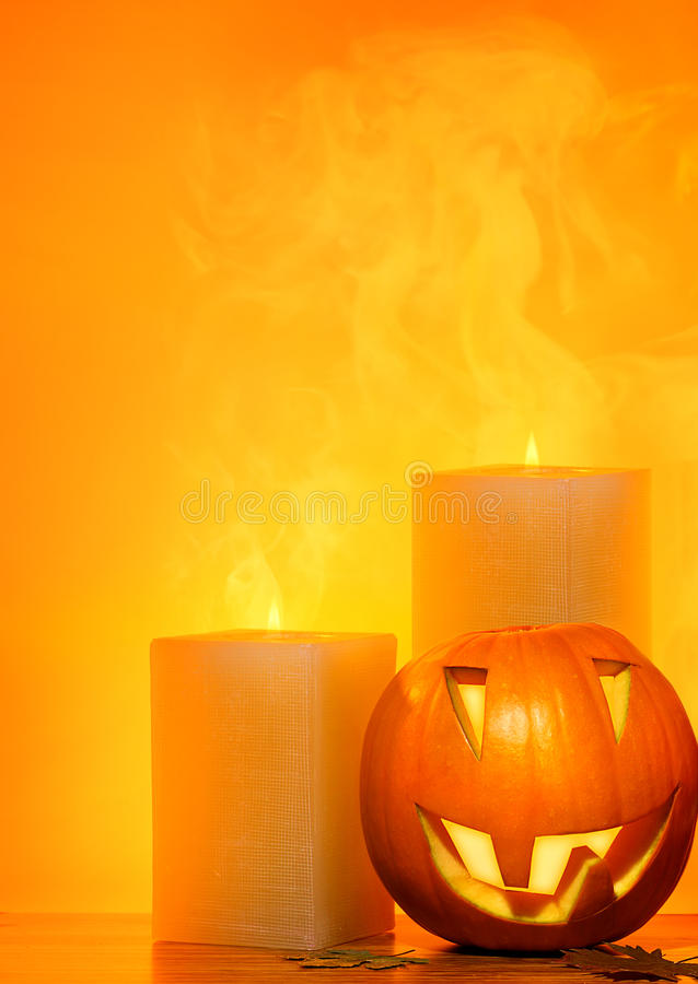 Bordo della zucca di Halloween fotografia stock libera da diritti