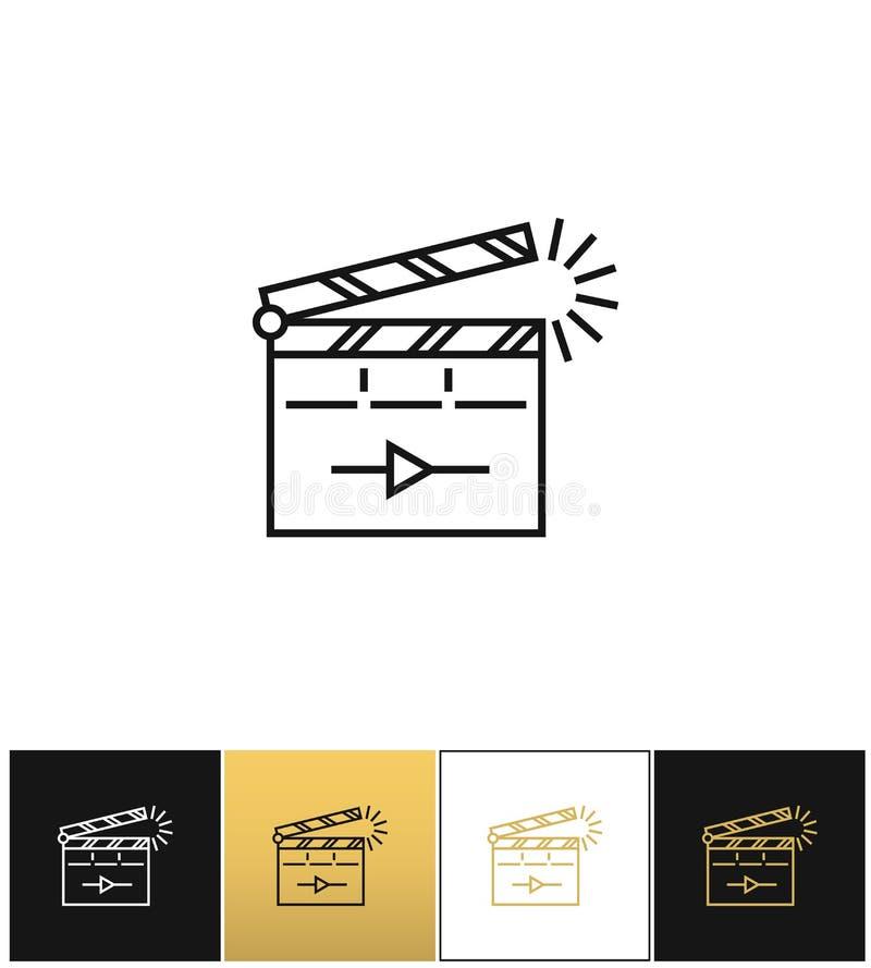 Bordo di applauso del film o icona d'applauso di vettore di ciac royalty illustrazione gratis