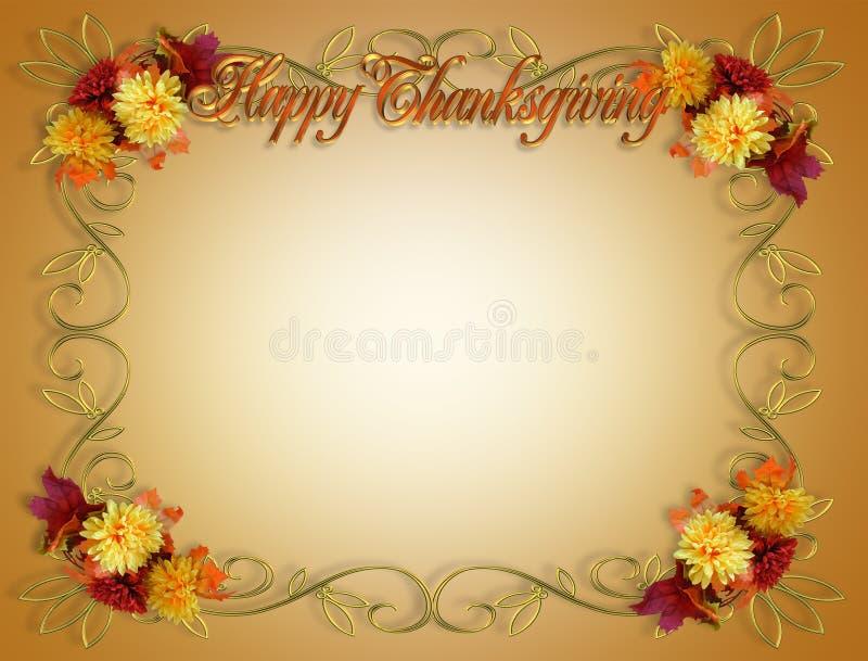 Bordo di autunno di caduta di ringraziamento illustrazione vettoriale