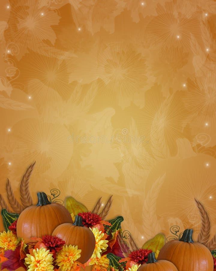 Bordo di caduta di autunno di ringraziamento illustrazione vettoriale