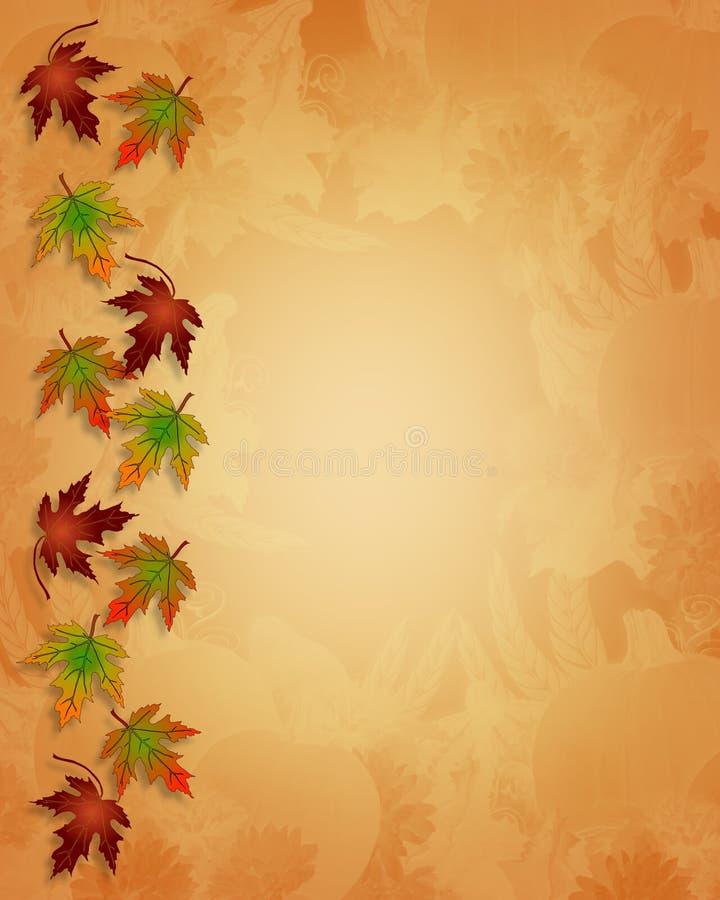 Bordo di caduta di autunno di ringraziamento illustrazione di stock
