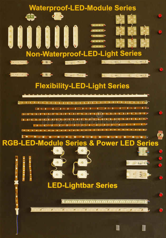 Bordo Di Dimostrazione Con Il Modulo Del LED Fotografie Stock