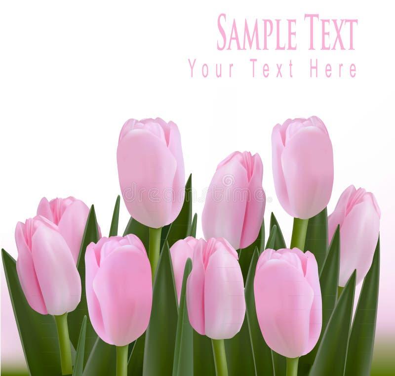 Bordo di disegno del fiore isolato su bianco. illustrazione di stock