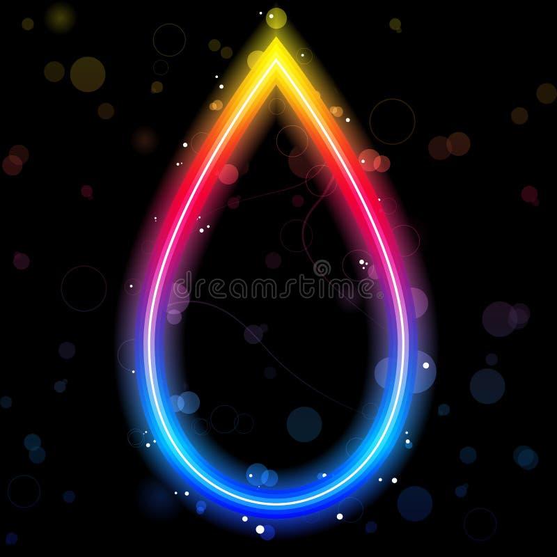 Bordo di goccia del Rainbow royalty illustrazione gratis