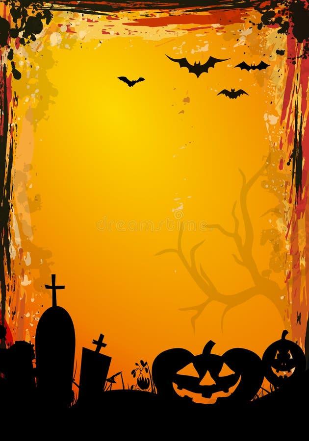 Bordo di Halloween illustrazione vettoriale