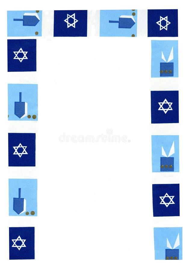 Bordo di Hanukkah. immagine stock