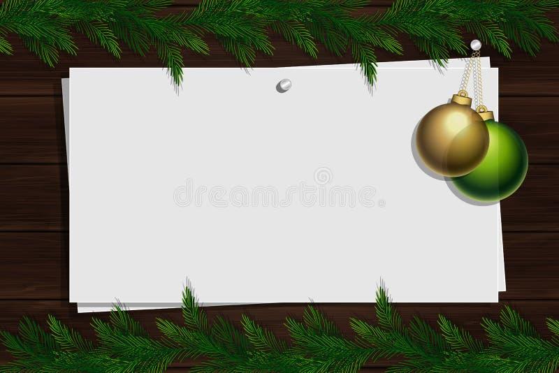 Bordo di ispirazione con il confine Modello di Natale illustrazione di stock