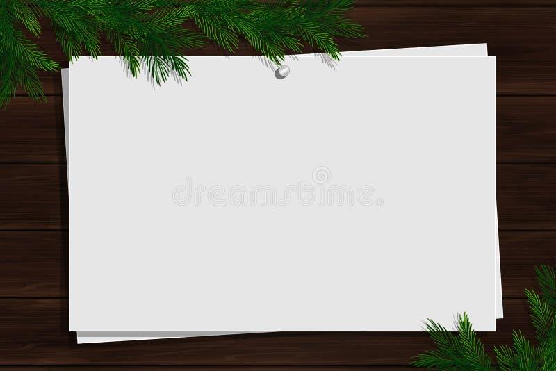 Bordo di ispirazione di Natale con il confine illustrazione di stock