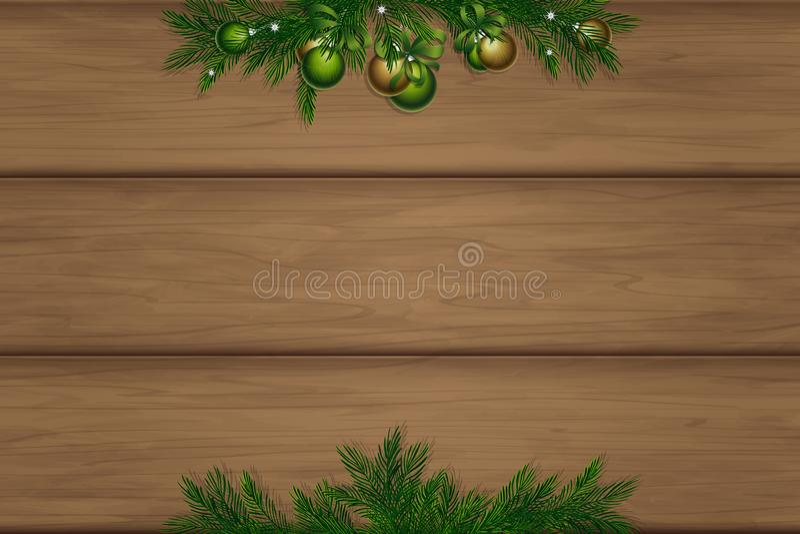 Bordo di legno con il posto per l'iscrizione royalty illustrazione gratis
