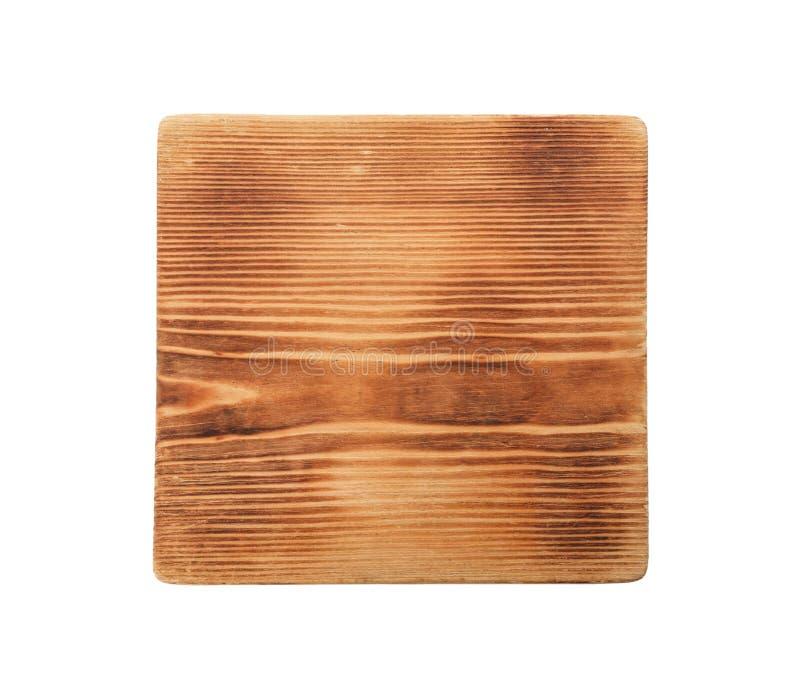 Bordo di legno su fondo bianco, vista superiore fotografie stock