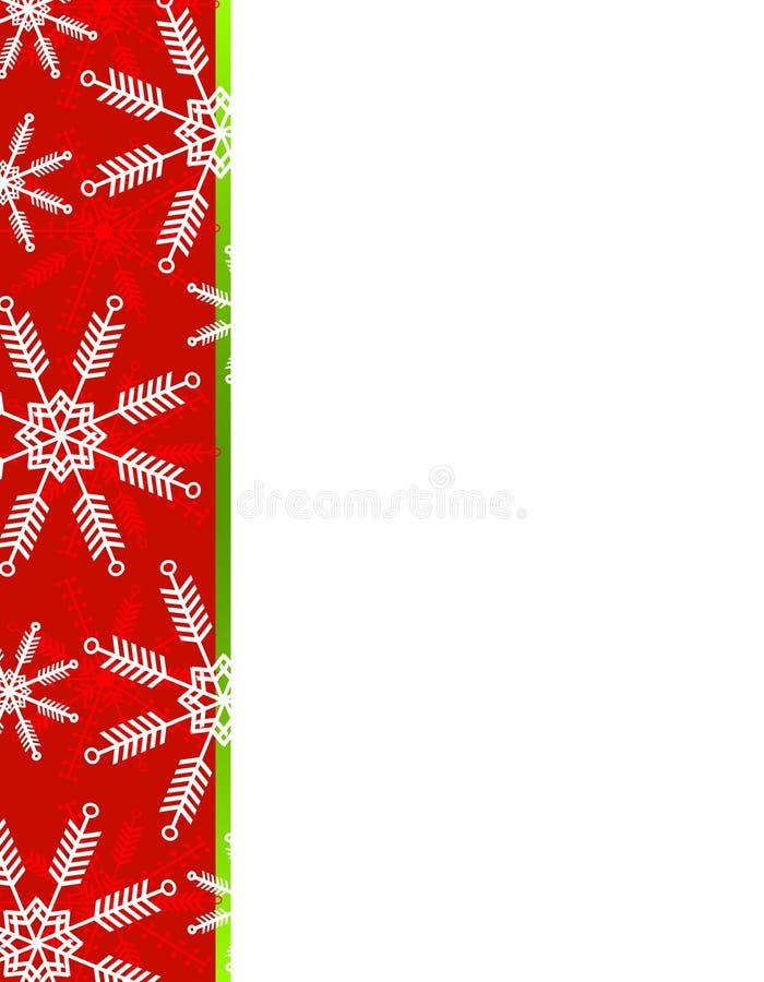Bordo di natale dei fiocchi di neve illustrazione vettoriale