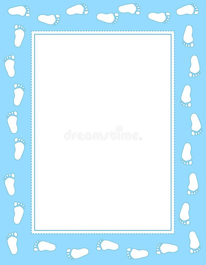 Bordo di orma del bambino illustrazione vettoriale