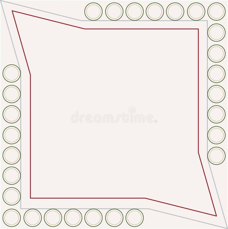 Bordo di presentazione dello schema antico di colore illustrazione vettoriale