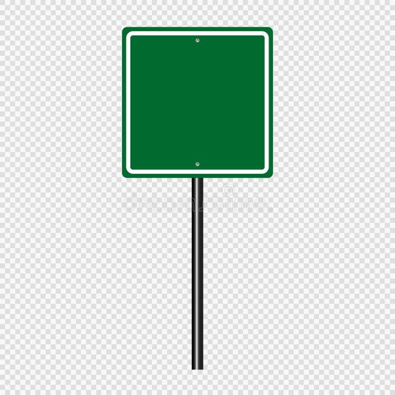 Bordo di verde della strada del segno di simbolo su fondo trasparente illustrazione di stock