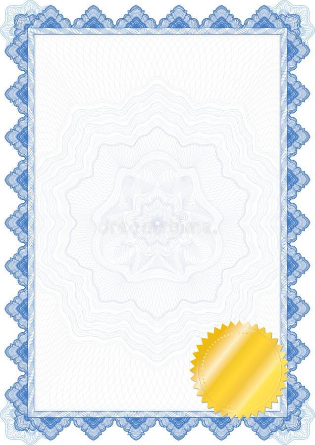 Bordo/diploma o certificato classico della rabescatura illustrazione vettoriale