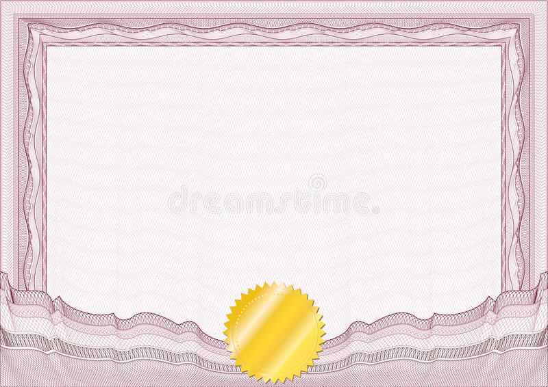 Bordo/diploma o certificato classico della rabescatura illustrazione di stock