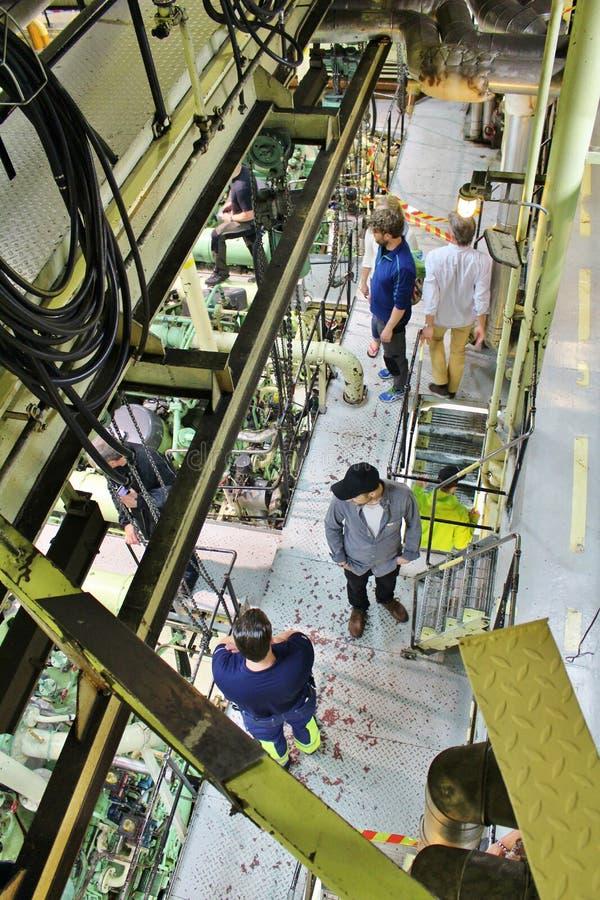 A bordo en los rompehielos en LuleÃ¥ fotografía de archivo