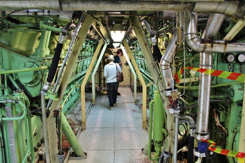 A bordo en los rompehielos en Luleå foto de archivo