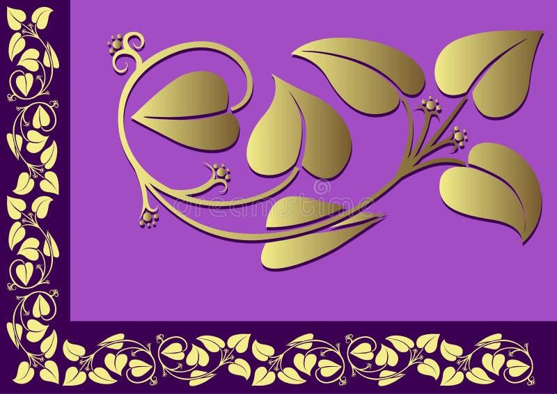 Bordo floreale 03 illustrazione di stock